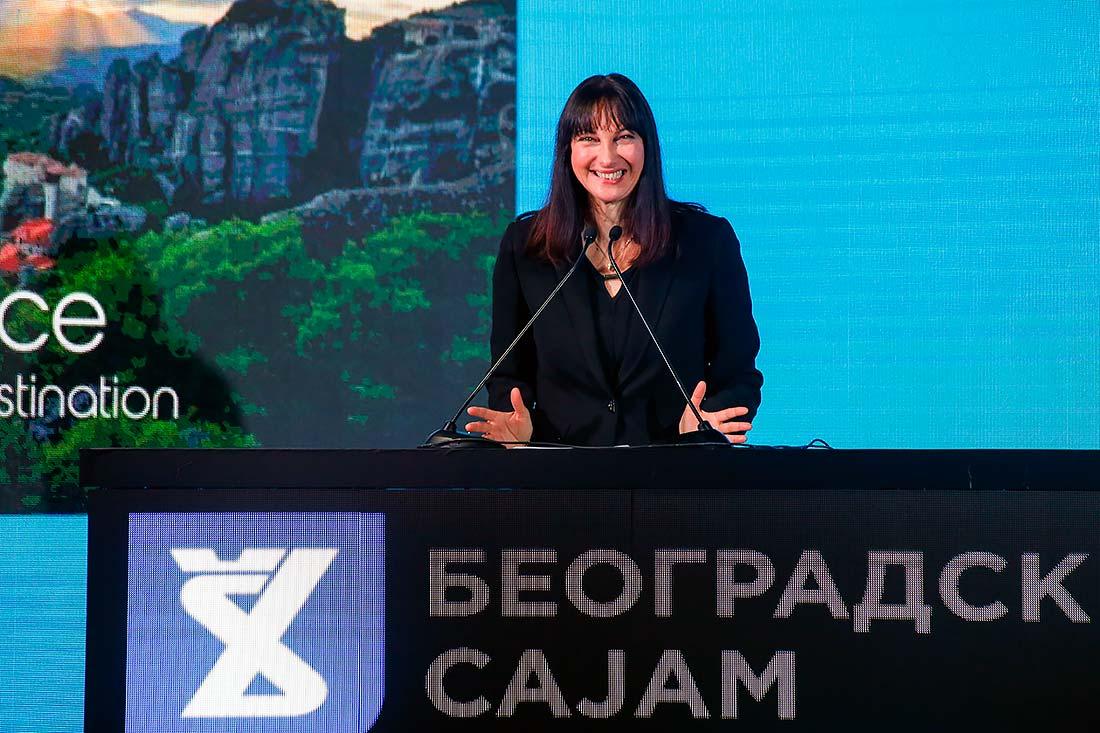 Ms. Elena Kountoura, Minister of Tourism of Greece